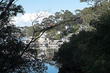 Gymea Baths through the trees