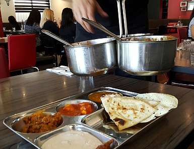 Thali at Not Just Curry
