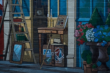 Mural in Dural Lane Hornsby by Hugues Sineux