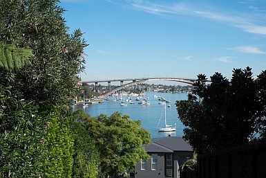 Water views from Hunter's Hill