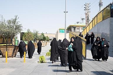 Women leaving Qom Shrine