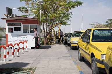 Taxi Rank at Yazd Bus Station
