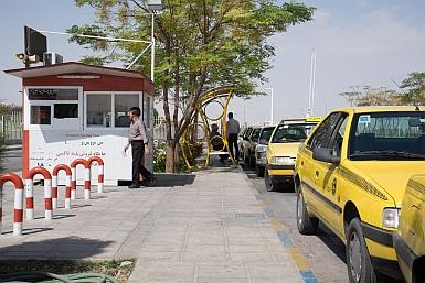 Taxi Rank at Yazd Bus Station