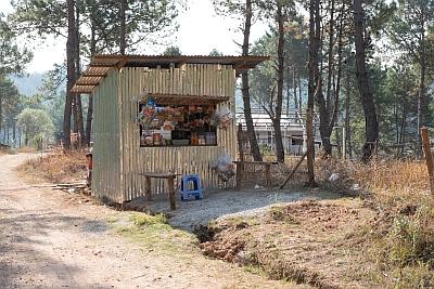 Rural Roadside Stall Myanmar