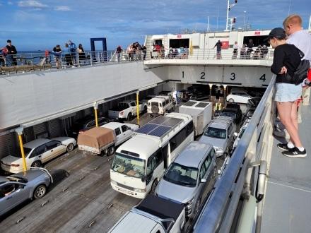 Cars on the Sealink Ferry to Kangaroo Island