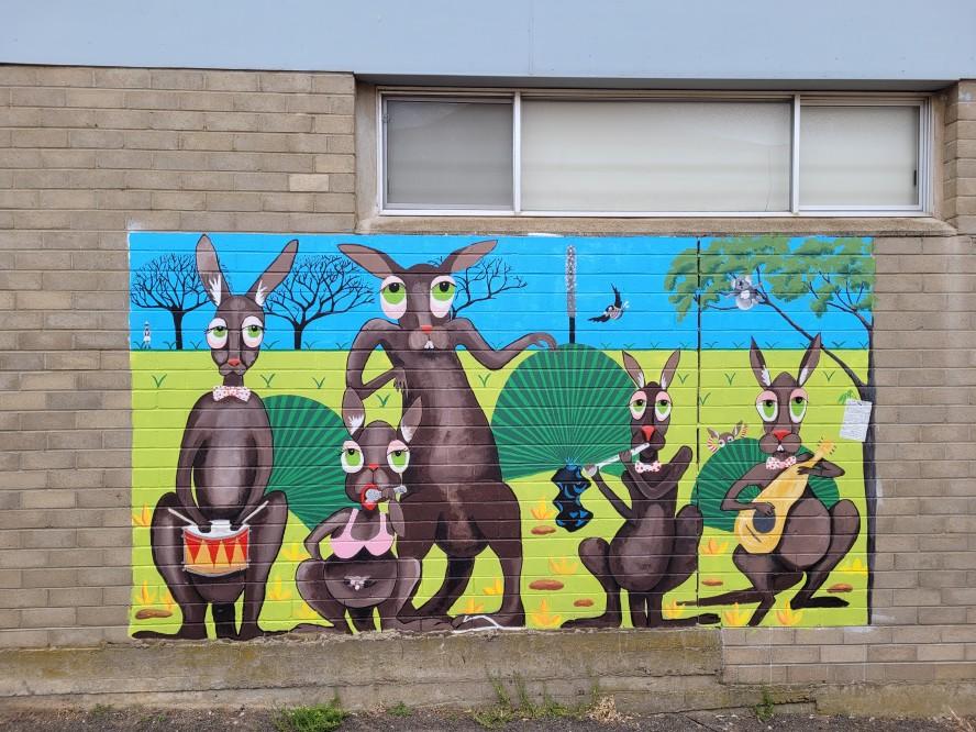 Kangaroos on Kangaroo Island artwork by Jan Pengilly