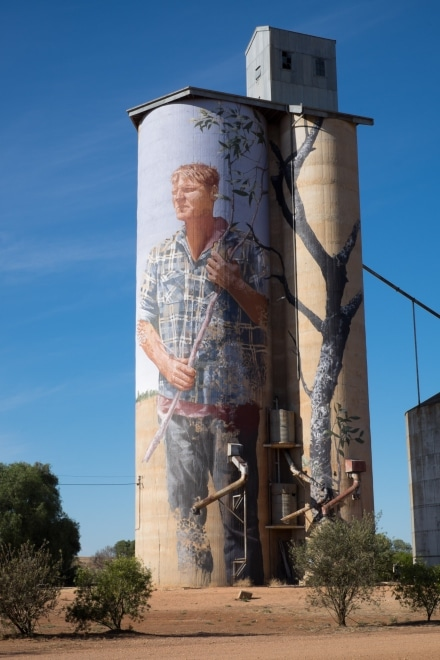Silo Art at Patchewollock by Fintan Magee