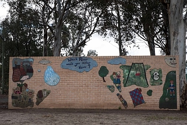 Wall in Parry Park