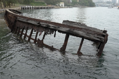 Wreck at Sawmiller's Reserve