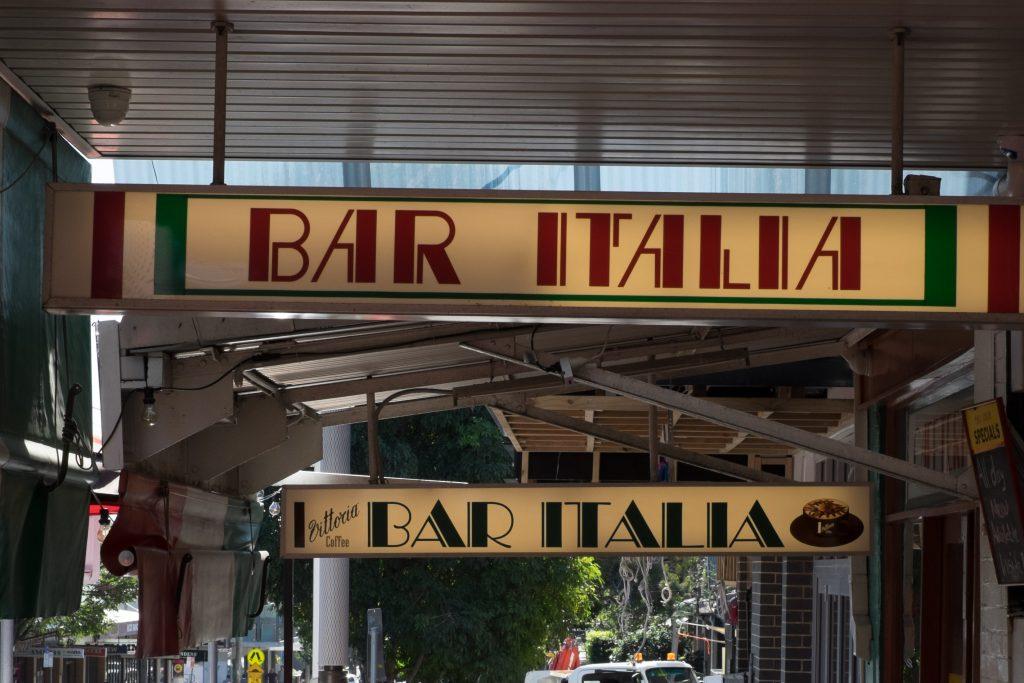 Bar Italia in Little Italy Sydney