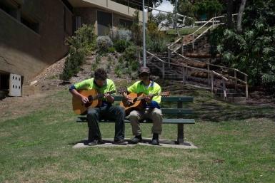 Lunch break in Kirribilli Park