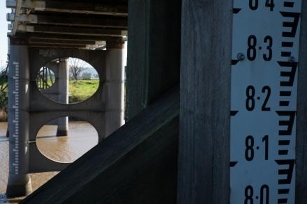 Morpeth Bridge Flood Markings