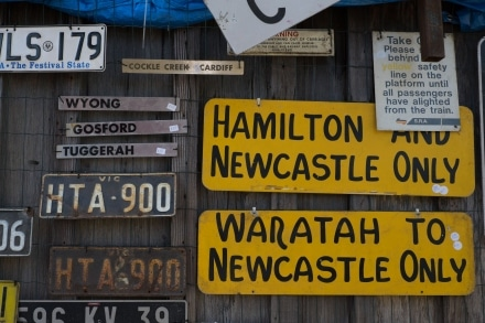 Road Signs and Rail Signs at Campbell's Store Morpeth
