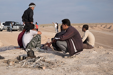 Picnic in the Iranian Desert