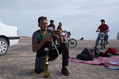 Shisha in the Iranian Desert