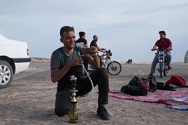 Shisha in the Iranian Desert