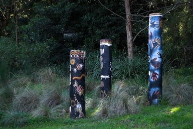 Aboriginal Story Poles along the Cooks River