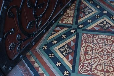 Tiles in St Paul's Melbourne