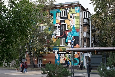 Street Art near Babushkinskaya metro Moscow