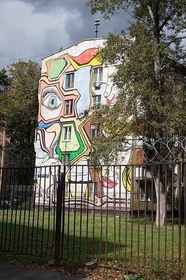 Babushkinskaya Street Art in Housing Estate