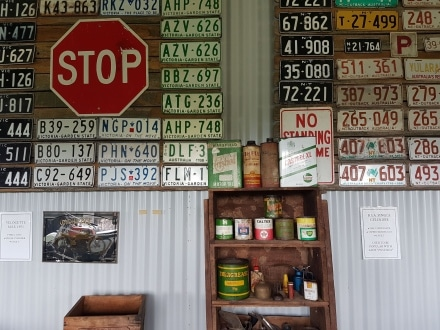 Registration Plates from all over the world and Old Oil Cans for collectors