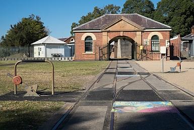 Entrance to Newington Armory