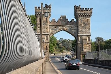 Walking across Long Gully Bridge