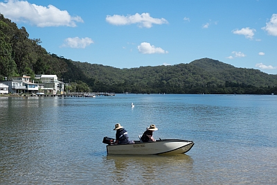 Fishing on Patonga Creek