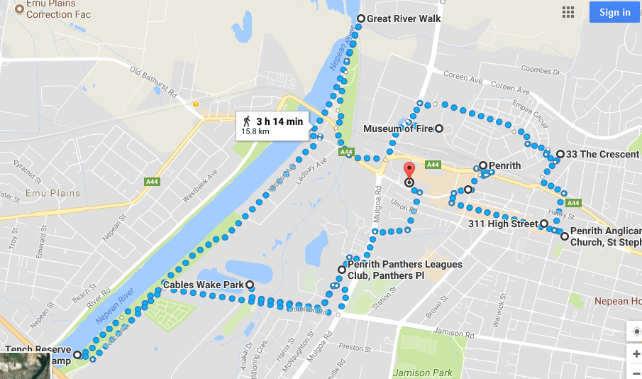 Penrith walk map