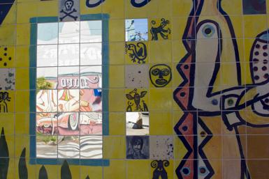 Portuguese tiles in Petersham