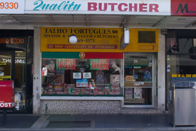 Portuguese butcher in Petersham