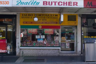 Portuguese butcher in Petersham