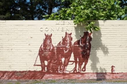 Mural of Draught Horses