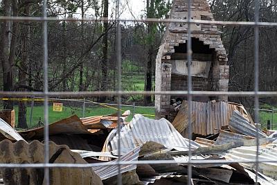 Shops destroyed at Mogo