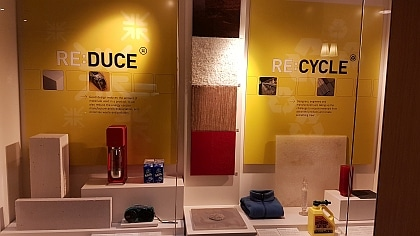 Eco exhibition on reducing and recylcing