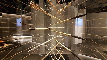 Spears make a stunning artwork in Linear Powerhouse Museum