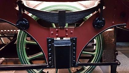 Steam driven train engine