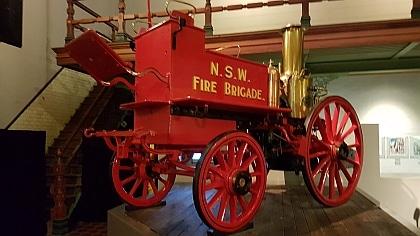 Steam driven fire engine