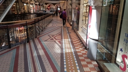 Tessellated tiles in the Queen Victoria Building