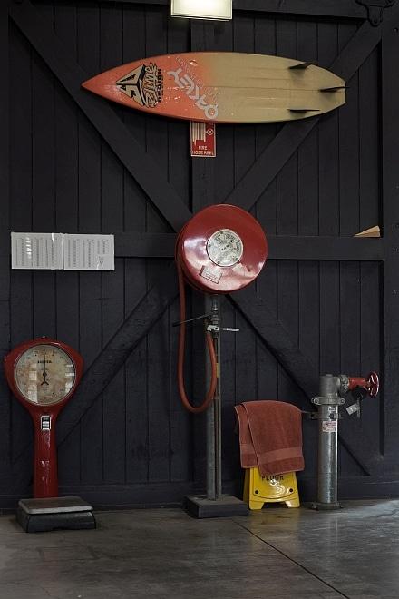 Wooden door of Inwards Parcel Shed