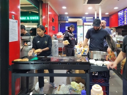 Pop up camel burger stall in Lakemba