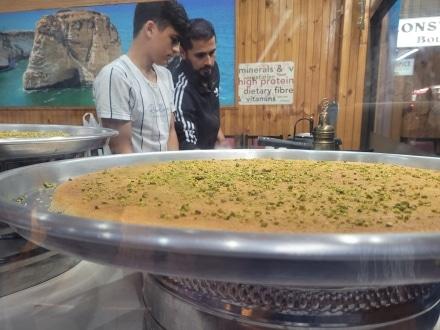 Palestinian Knafeh in Lakemba for Ramadan
