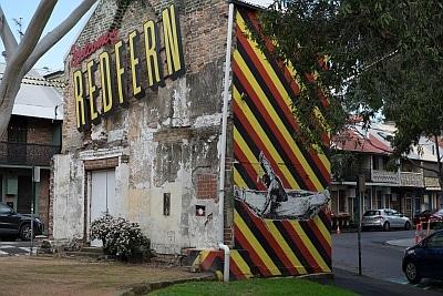 Welcome to Redfern by Reko Rennie with Pemulwuy