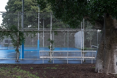 Tennis courts at Prince Alfred Park