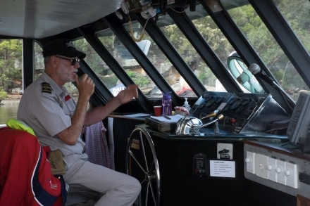 The Riverboat Postman has a commentary of what you are seeing on the Hawkesbury River