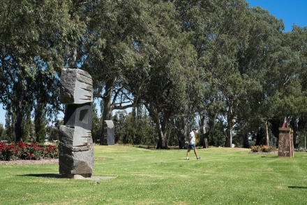 Granite Sculptures in Griffith . Sculpture Walk in Griffith