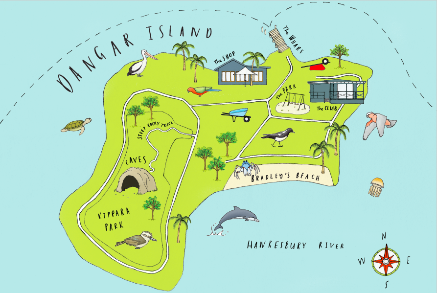 Map of Dangar Island