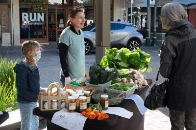 Fresh veggies from Blue Boat Farm Stall at Maitland Market