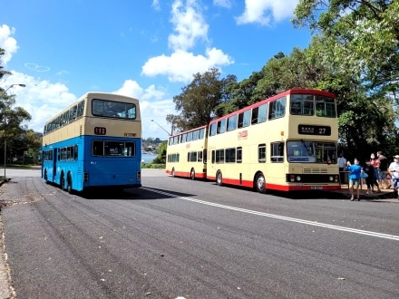 Three Hong Kong buses get an outing in Sydney