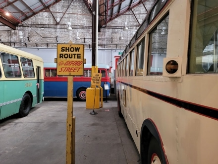 Look out for the old signs decorating the Sydney Bus Museum